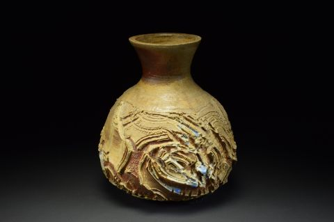 Title: Vase 513. By: Scott Bartolomei Edmonds.  Ceramic, -Stoneware Unglazed, Wood-fired Functional, -Vase