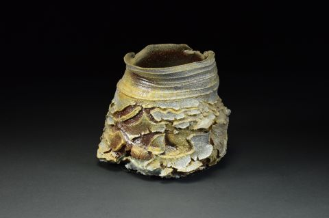 Title: Vase x98. By: Scott Bartolomei Edmonds.  Ceramic, -Stoneware Unglazed, Wood-fired, Wheel thrown Non-functional, -Sculptural, Functional, -Vase