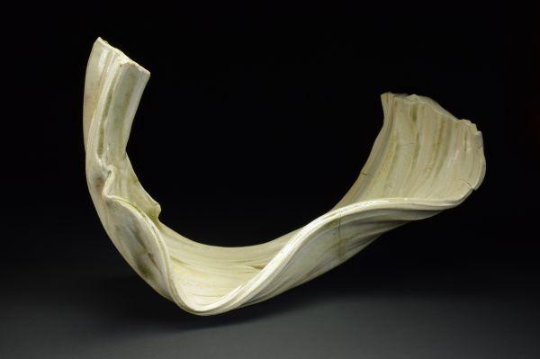 Title: Torus 001. By: Scott Bartolomei Edmonds.  Ceramic, -Porcelain Unglazed, Wood-fired Non-functional, -Sculptural