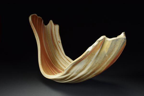 Title: Torus 011. By: Scott Bartolomei Edmonds.  Ceramic, -Stoneware Unglazed, Wood-fired, Wheel thrown Non-functional, -Sculptural