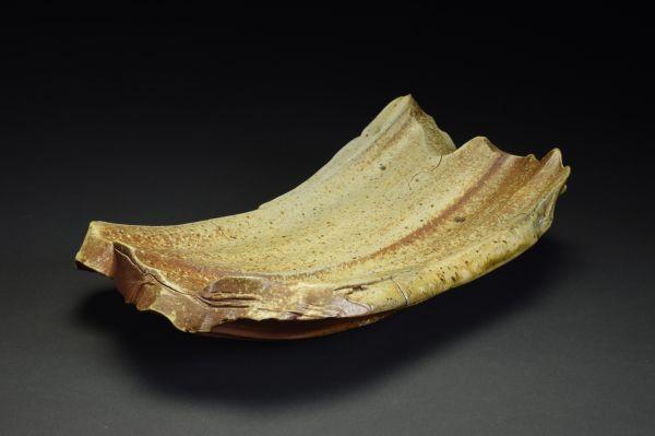 Title: Plate 088. By: Scott Bartolomei Edmonds.  Ceramic, -Stoneware Unglazed, Wood-fired, Hand built, Wheel thrown Non-functional, -Sculptural, Functional, -Plate