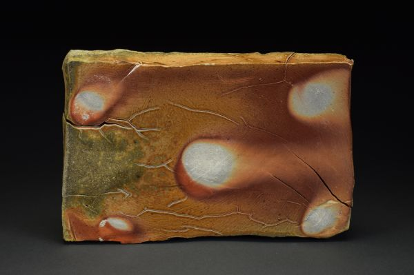 Title: Plate 001. By: Scott Bartolomei Edmonds.  Ceramic, -Stoneware Glazed, Wood-fired, Hand built Non-functional, -Sculptural, Functional, -Plate