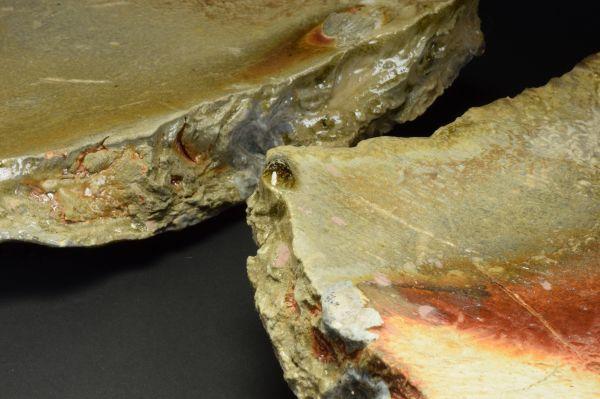 Title: Plate 095. By: Scott Bartolomei Edmonds.  Ceramic, -Stoneware Unglazed, Wood-fired, Hand built, Cast Non-functional, -Sculptural