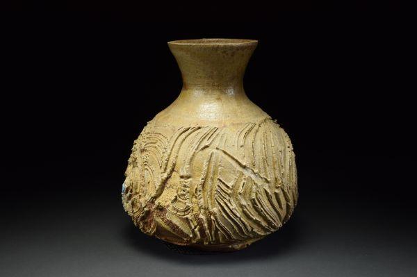 Title: Vase 513. By: Scott Bartolomei Edmonds.  Ceramic, -Stoneware Unglazed, Wood-fired Functional, -Vase