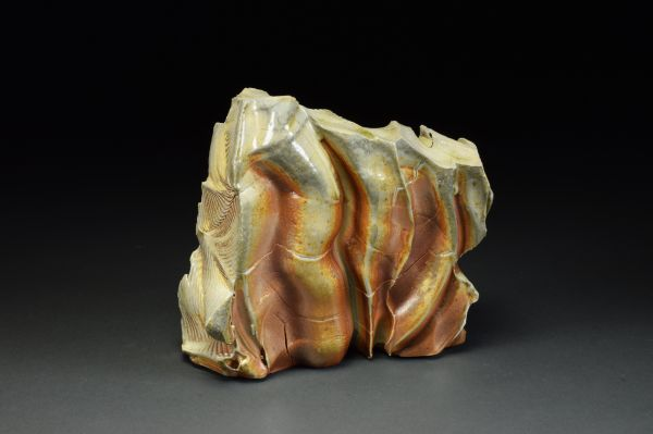 Title: Thrust Plate 001. By: Scott Bartolomei Edmonds.  Ceramic, -Stoneware Unglazed, Wood-fired Non-functional, -Sculptural