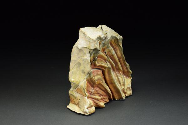 Title: Thrust Plate 002. By: Scott Bartolomei Edmonds.  Ceramic, -Stoneware Unglazed, Wood-fired, Hand built Non-functional, -Sculptural