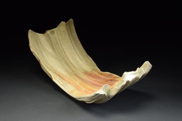 Title: Torus 015. By: Scott Bartolomei Edmonds.  Ceramic, -Stoneware Unglazed, Wood-fired, Wheel thrown Non-functional, -Sculptural, Functional, -Vase