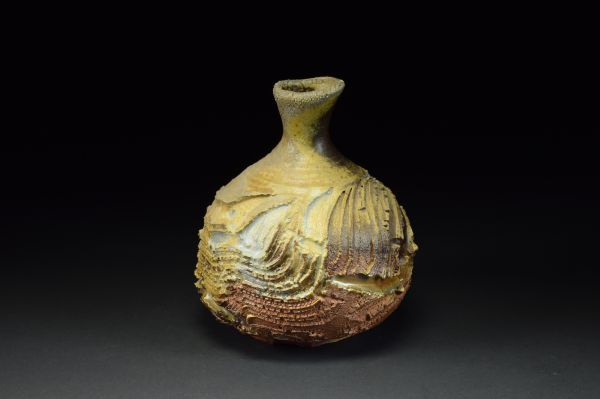 Title: Vase 640. By: Scott Bartolomei Edmonds.  Ceramic, -Stoneware Unglazed, Wood-fired, Wheel thrown Functional, -Vase