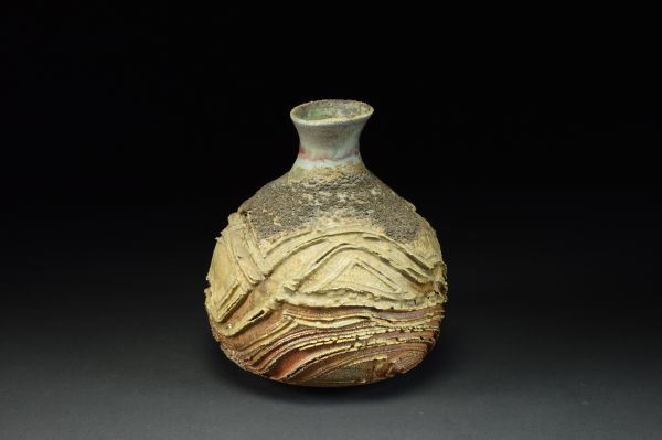 Title: Vase 646. By: Scott Bartolomei Edmonds.  Ceramic, -Stoneware Glazed, Wood-fired, Wheel thrown Functional, -Vase
