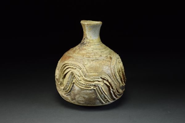 Title: Vase 647. By: Scott Bartolomei Edmonds.  Ceramic, -Stoneware Unglazed, Wood-fired, Wheel thrown Functional, -Vase