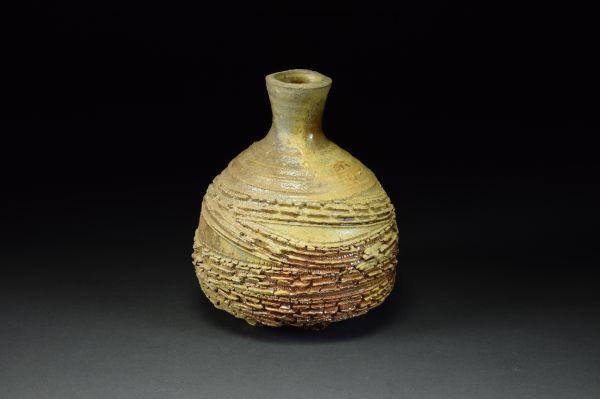 Title: Vase 687. By: Scott Bartolomei Edmonds.  Ceramic, -Stoneware Unglazed, Wood-fired, Wheel thrown Functional, -Vase