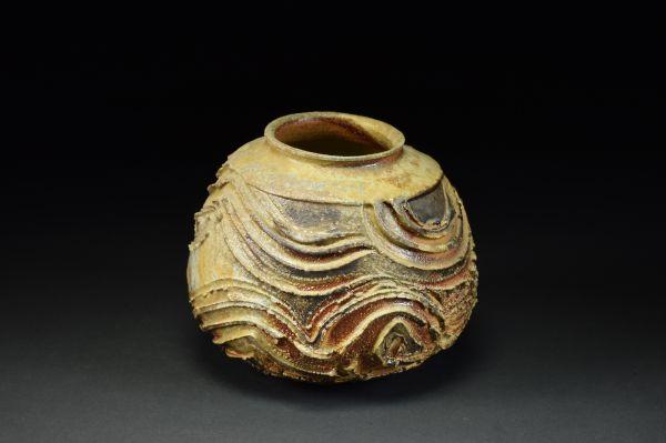 Title: Vase 678. By: Scott Bartolomei Edmonds.  Ceramic, -Stoneware Unglazed, Wood-fired, Wheel thrown Functional, -Vase