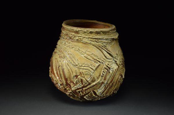 Title: Vase 531. By: Scott Bartolomei Edmonds.  Ceramic, -Stoneware Unglazed, Wood-fired, Wheel thrown Functional, -Vase