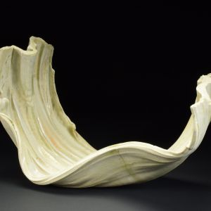 Title: Torus 001. By: Scott Bartolomei Edmonds.  Ceramic, -Porcelain Unglazed, Wood-fired Non-functional, -Sculptural