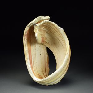 Title: Torus 013. By: Scott Bartolomei Edmonds.  Ceramic, -Porcelain Unglazed, Wood-fired, Wheel thrown Non-functional, -Sculptural