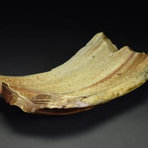 Title: Plate 088. By: Scott Bartolomei Edmonds.  Ceramic, -Stoneware Unglazed, Wood-fired, Hand built, Wheel thrown Non-functional, -Sculptural, Functional, -Plate