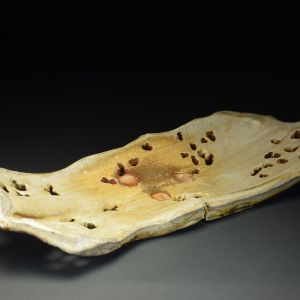 Title: Plate 071. By: Scott Bartolomei Edmonds.  Ceramic, -Stoneware Unglazed, Wood-fired, Hand built, Wheel thrown Non-functional, -Sculptural, -Vase