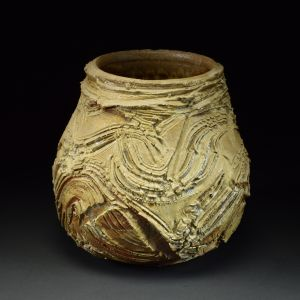 Title: Vase 531. By: Scott Bartolomei Edmonds.  Ceramic, -Stoneware Unglazed, Wood-fired, Wheel thrown Functional, -Vase