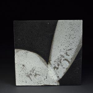 Title: Untitled. By: Akiko Uchida.  Ceramic, -Stoneware Glazed, Hand built Non-functional, -Tile