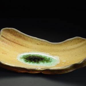 Title: Torus 004. By: Scott Bartolomei Edmonds.  Ceramic, -Stoneware Unglazed, Wood-fired, Wheel thrown Non-functional, -Sculptural, Functional, -Bowl, -Vase